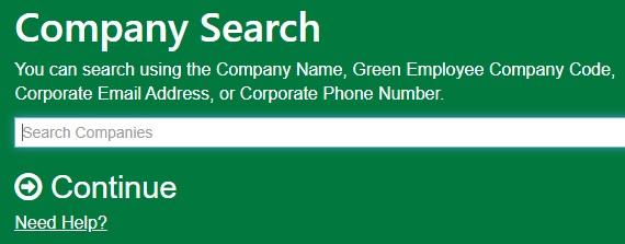 Green Employee Portal Company search
