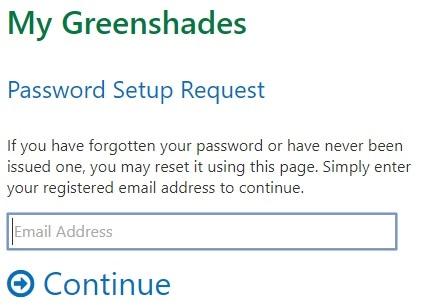 Green Employee Portal Password Setup Page
