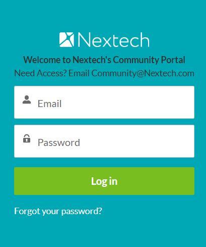Login Nextech's Community Portal