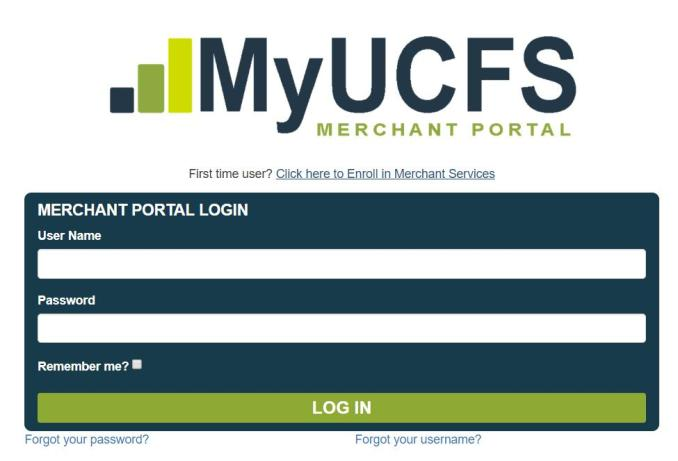 MyUCFS Merchant Portal
