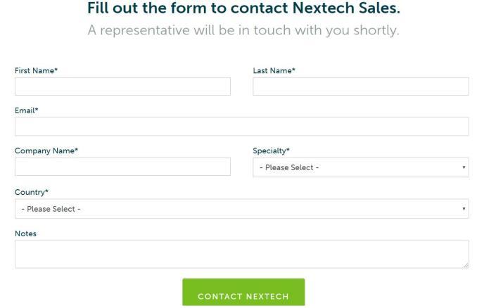 Nextech Customer service