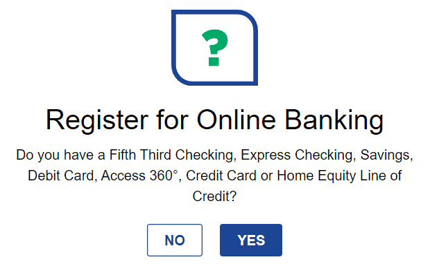 register Fifth Third Bank online banking