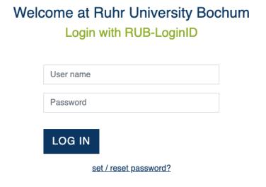 RUBmail login