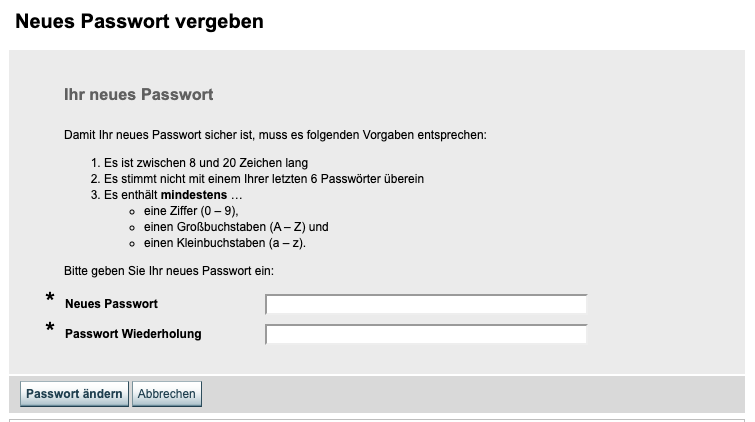 Arbeitsagentur Passwort vergessen