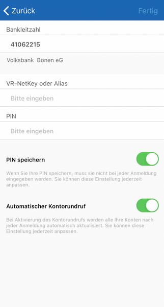 Volksbank Bönen App