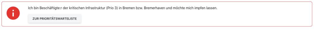 Prioritätswatreliste Bremen