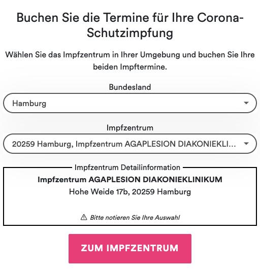Impftermin Hamburg