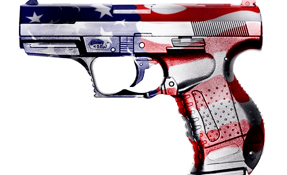 Flag wrapped gun with displace filter