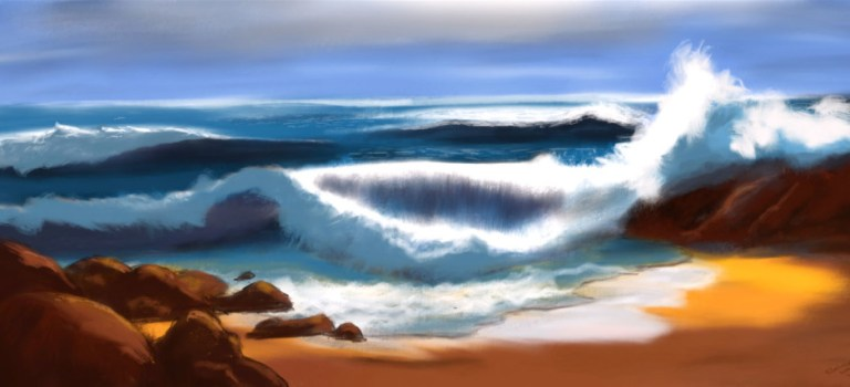 Oceanscape painting