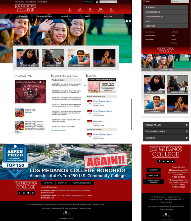 New home page design with mobile option