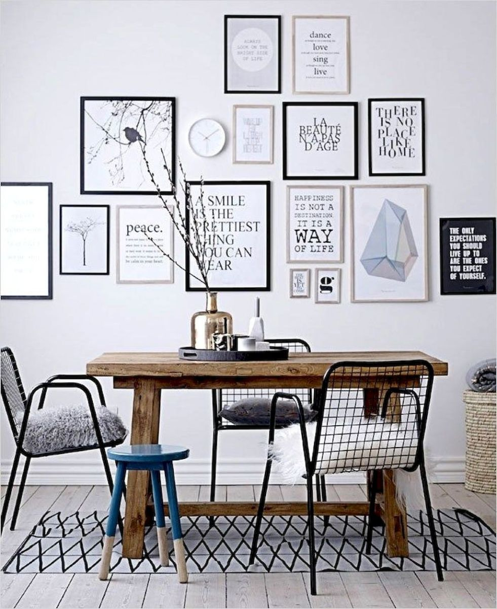 50+ Wall Décor Ideas for 2018 Dining Room Trend (72)