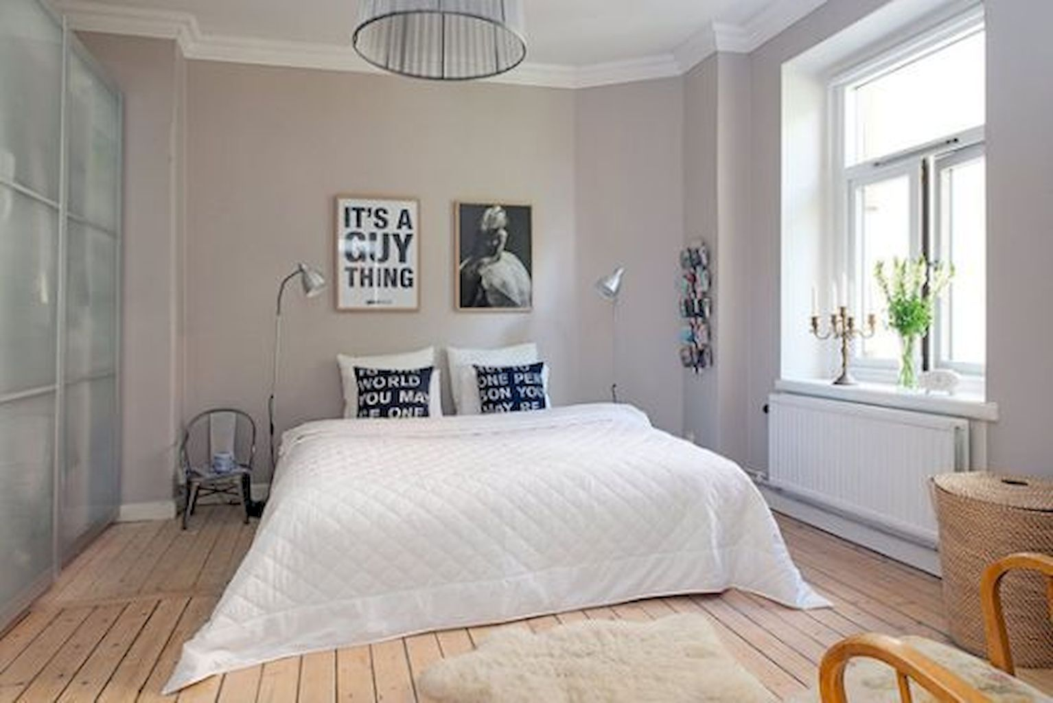 A tall mirror leaning against a wall can expand your space and dress the room without hanging, and you'll always be able to find a use for it in a new home. Best Bedroom Decorating Ideas to Juice Up Rental Apartment