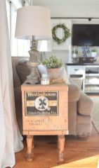 Creative Farmhouse Style Side Table Design Made From Scrap And Reclaimed Materials (31)