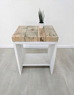 Creative Farmhouse Style Side Table Design Made From Scrap And Reclaimed Materials (51)