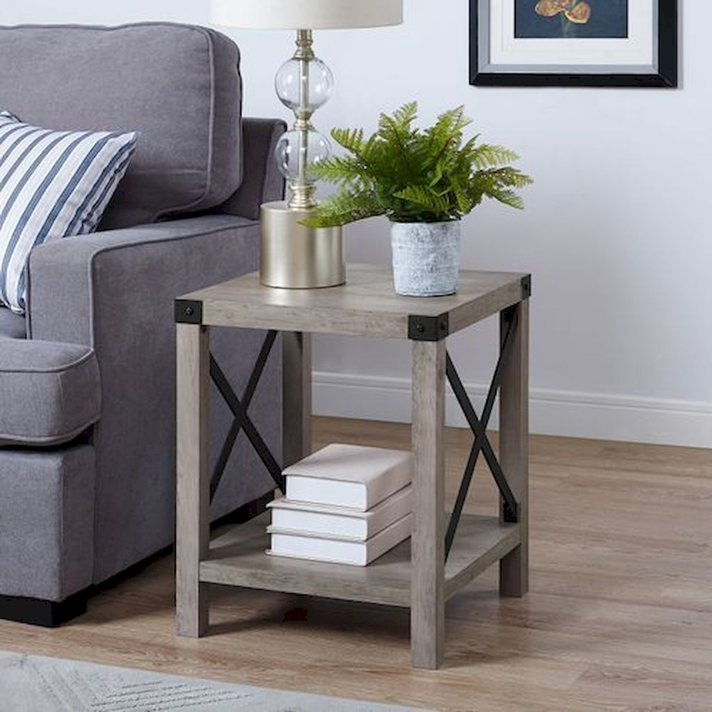 Creative Farmhouse Style Side Table Design Made From Scrap And Reclaimed Materials (56)