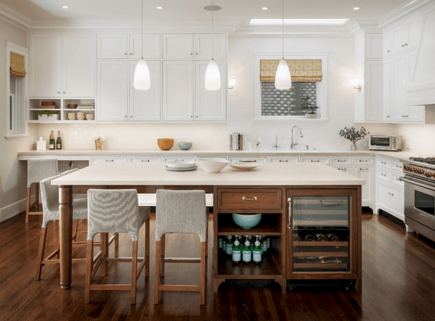 Dual purpose kitchen island that will really safe your space and extra budget as well (25)