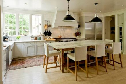Dual purpose kitchen island that will really safe your space and extra budget as well (30)