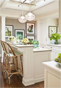 Dual purpose kitchen island that will really safe your space and extra budget as well (34)