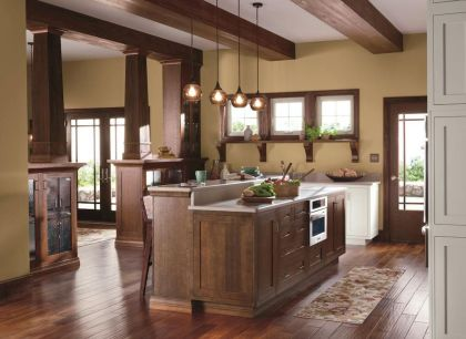 Dual purpose kitchen island that will really safe your space and extra budget as well (35)