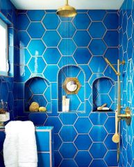 Easy Bathroom Makeover Inspirations with Cheap Decoration and Accessories Part 19