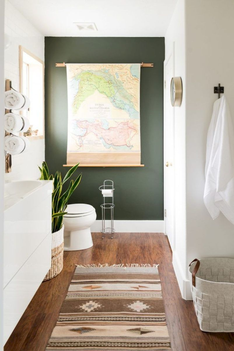 Easy Bathroom Makeover Inspirations with Cheap Decoration and Accessories Part 51