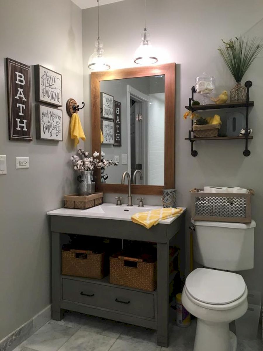Easy Bathroom Makeover Inspirations with Cheap Decoration and Accessories Part 67
