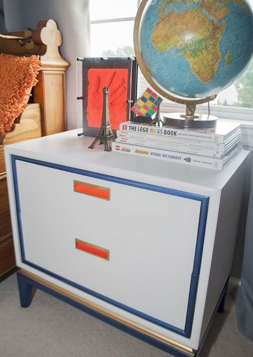 Easy tricks for Nightstand makeover ideas that will makeup the bedroom design Part 38