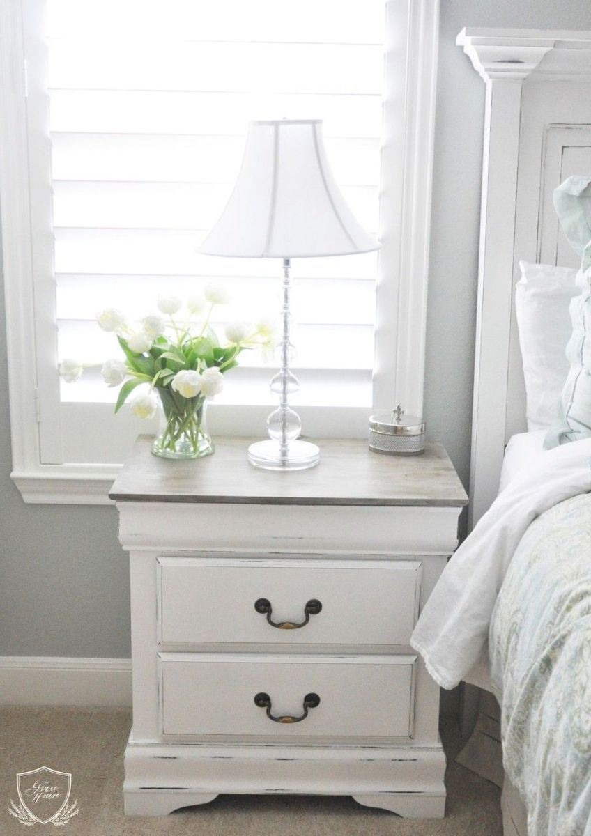 Easy tricks for Nightstand makeover ideas that will makeup the bedroom design Part 52