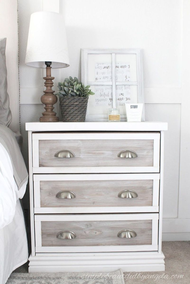 Easy tricks for Nightstand makeover ideas that will makeup the bedroom design Part 59