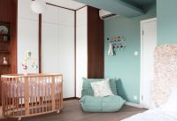 Modern Baby Nursery Rooms Ideas with Simple and Colorful Concepts with Pattern and Unique Baby Crib Design Part 13