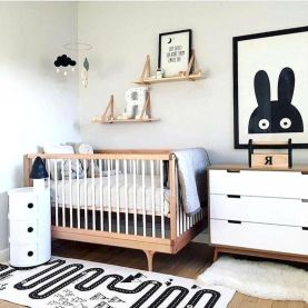 Modern Baby Nursery Rooms Ideas with Simple and Colorful Concepts with Pattern and Unique Baby Crib Design Part 18