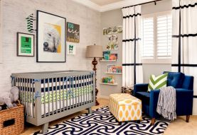 Modern Baby Nursery Rooms Ideas with Simple and Colorful Concepts with Pattern and Unique Baby Crib Design Part 19