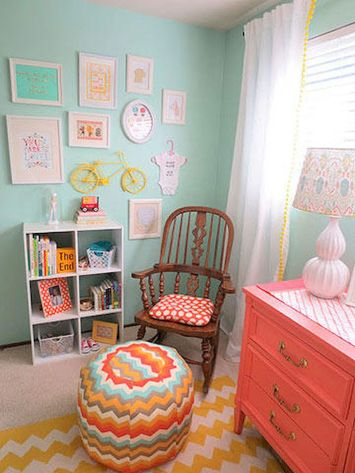 Modern Baby Nursery Rooms Ideas with Simple and Colorful Concepts with Pattern and Unique Baby Crib Design Part 20