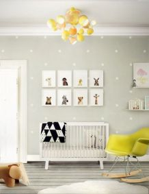 Modern Baby Nursery Rooms Ideas with Simple and Colorful Concepts with Pattern and Unique Baby Crib Design Part 22