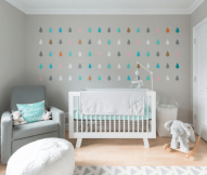 Modern Baby Nursery Rooms Ideas with Simple and Colorful Concepts with Pattern and Unique Baby Crib Design Part 28