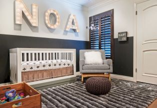 Modern Baby Nursery Rooms Ideas with Simple and Colorful Concepts with Pattern and Unique Baby Crib Design Part 31