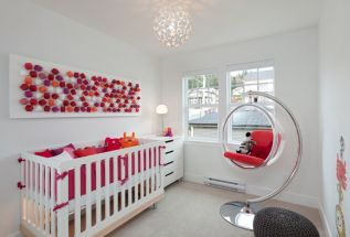 Modern Baby Nursery Rooms Ideas with Simple and Colorful Concepts with Pattern and Unique Baby Crib Design Part 32