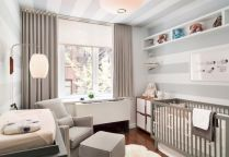 Modern Baby Nursery Rooms Ideas with Simple and Colorful Concepts with Pattern and Unique Baby Crib Design Part 34