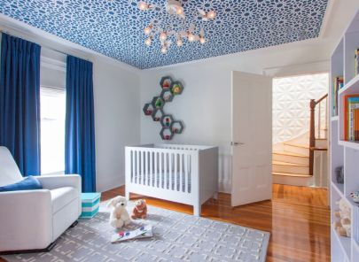 Modern Baby Nursery Rooms Ideas with Simple and Colorful Concepts with Pattern and Unique Baby Crib Design Part 36