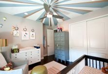 Modern Baby Nursery Rooms Ideas with Simple and Colorful Concepts with Pattern and Unique Baby Crib Design Part 38