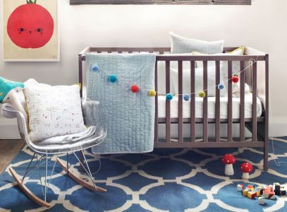 Modern Baby Nursery Rooms Ideas with Simple and Colorful Concepts with Pattern and Unique Baby Crib Design Part 41