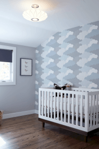 Modern Baby Nursery Rooms Ideas with Simple and Colorful Concepts with Pattern and Unique Baby Crib Design Part 52
