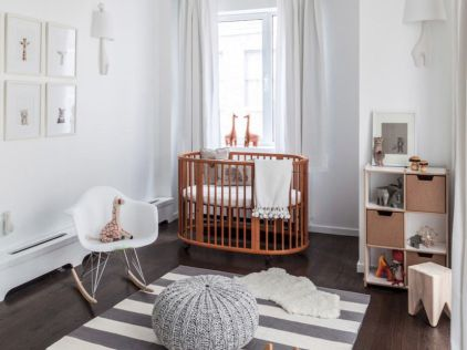 Modern Baby Nursery Rooms Ideas with Simple and Colorful Concepts with Pattern and Unique Baby Crib Design Part 55