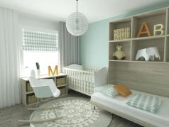 Modern Baby Nursery Rooms Ideas with Simple and Colorful Concepts with Pattern and Unique Baby Crib Design Part 57