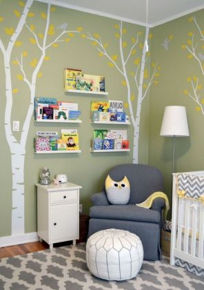 Modern Baby Nursery Rooms Ideas with Simple and Colorful Concepts with Pattern and Unique Baby Crib Design Part 73
