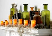 Mystical Halloween Lighting Ideas with Spellbinding candle and light string effect Part 14
