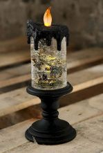 Mystical Halloween Lighting Ideas with Spellbinding candle and light string effect Part 17
