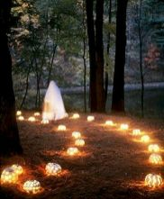 Mystical Halloween Lighting Ideas with Spellbinding candle and light string effect Part 19