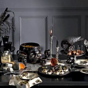 Mystical Halloween Lighting Ideas with Spellbinding candle and light string effect Part 47
