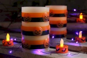 Mystical Halloween Lighting Ideas with Spellbinding candle and light string effect Part 48